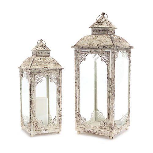 Melrose Lantern Table Decor 2-piece Set