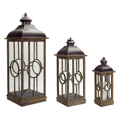 Melrose Lantern Table Decor 3-piece Set
