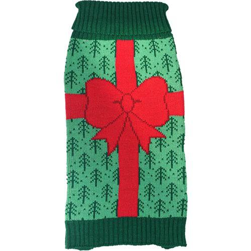 Woof Holiday Lights Pet Sweater