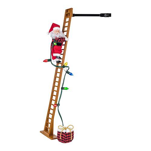 Mr Christmas Super Climbing Santa Tree Floor Decor