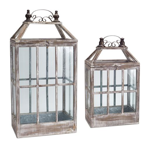 Melrose Lantern Table Decor 2-piece Set