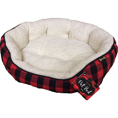 Woof Pet Flannel Plaid Bed