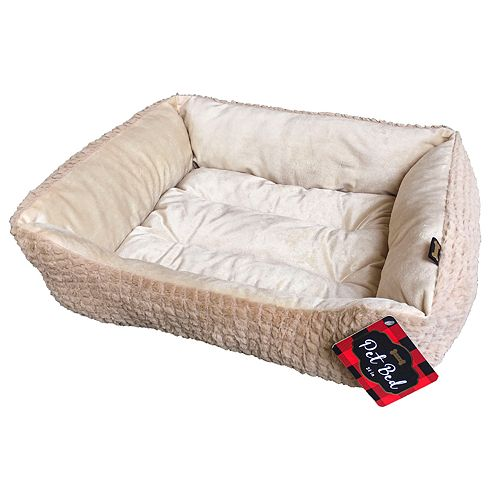 Woof Plush Textured Pet Bed