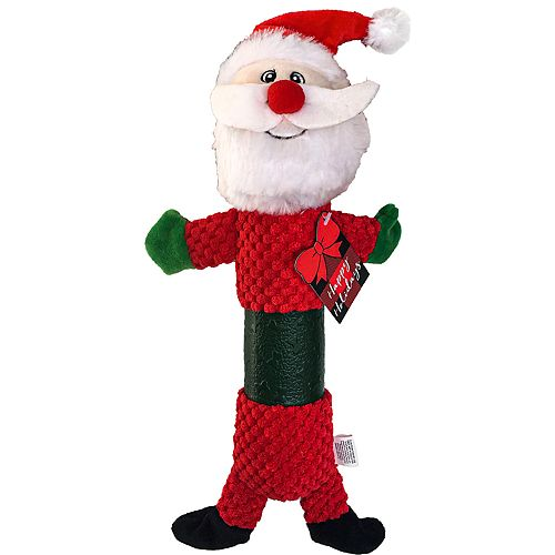Woof Holiday Santa TPR Dog Toy