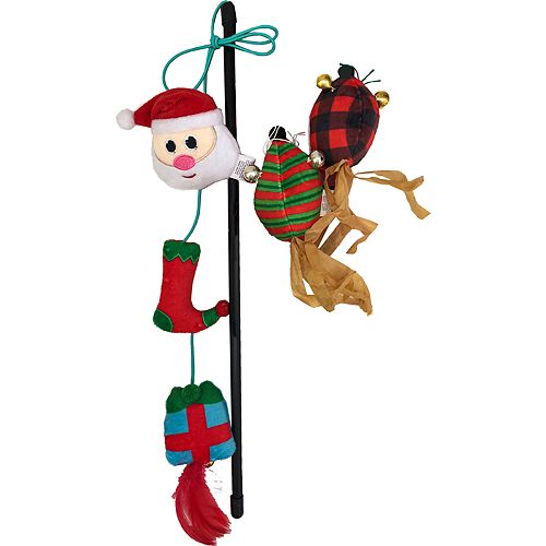 Woof Holiday Santa Wand and Mice Cat Toy Set