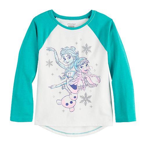Disney's Frozen Elsa, Anna & Olaf Toddler Girl Raglan Tee by Jumping Beans®