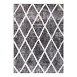 Concord Global Charlotte Collection Diamond Decorative Area Rug