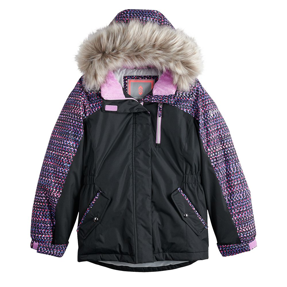 Girls 7-16 Free Country Radiance Boarder Jacket With Faux Fur Trim Hood
