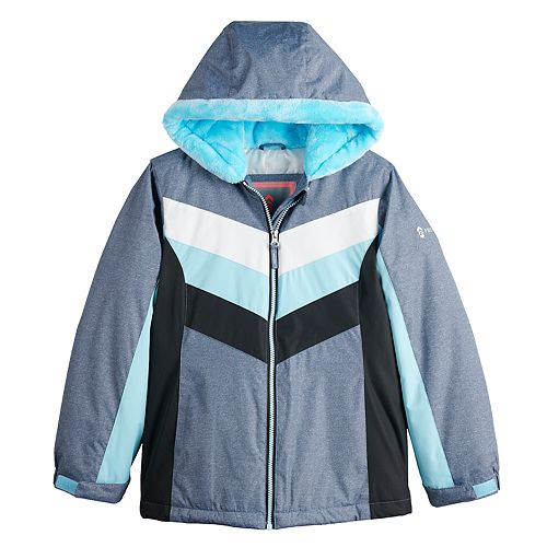 Girls 4-16 Free Country Radiance Chevron Colorblock Jacket