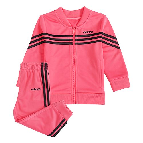 Baby Girl adidas Tricot Track Jacket & Pants Set