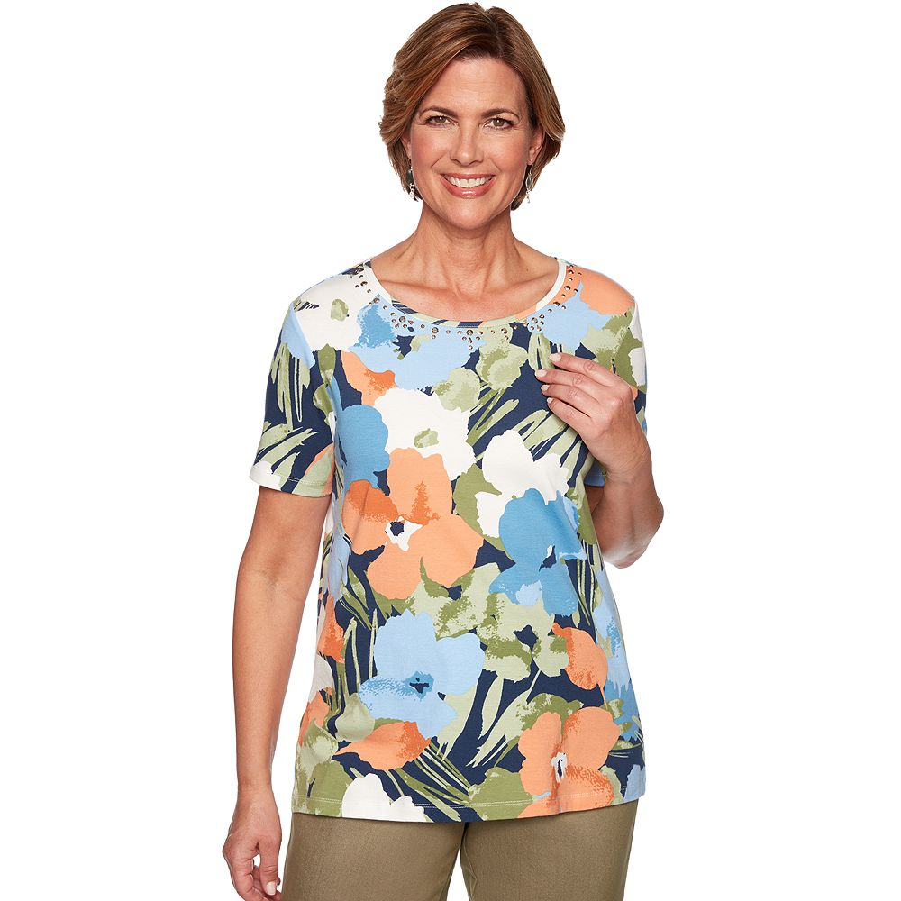 Women's Alfred Dunner Studio Floral Knit Top