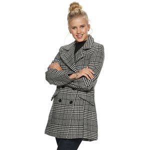 Juniors' IZ Byer Double Breasted Menswear Coat