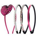 Girls Elli by Capelli Flippable Sequin Heart Headband Set