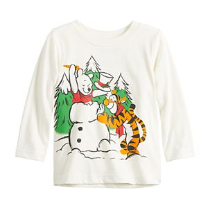 Disney's Winnie the Pooh Baby Boy Winter Snowman Graphic Tee by Jumping Beans®