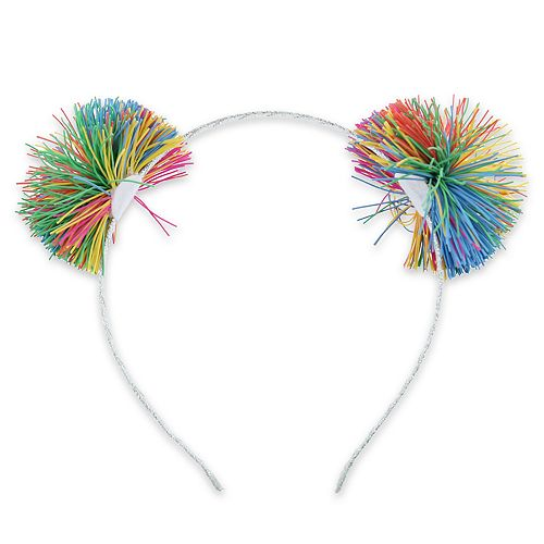 Girls Elli by Capelli Metal Headband Metallic Wrap with Koosh Balls