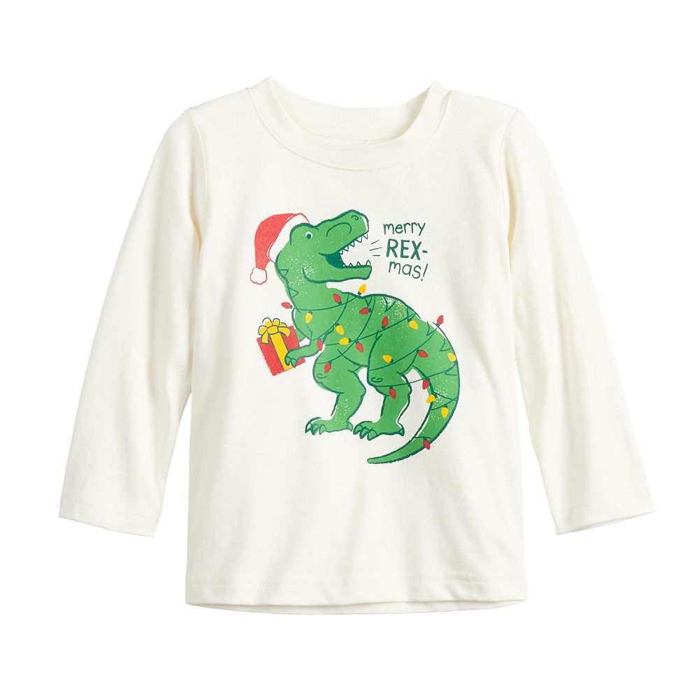 Baby Boy Jumping Beans® Christmas Dinosaur Graphic Tee