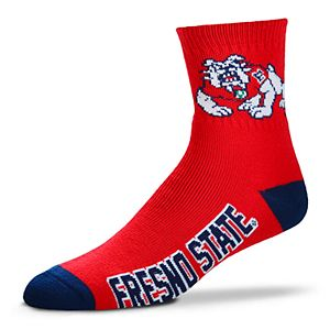 Men's Fresno State Bulldogs Team Color Quarter Socks