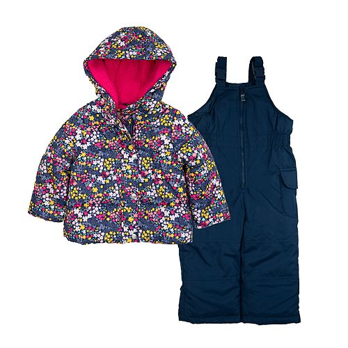 Baby Girl Carter's Floral Snowsuit