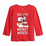 Disney's Mickey Mouse Baby Boy Christmas Santa Graphic Tee by Jumping Beans®