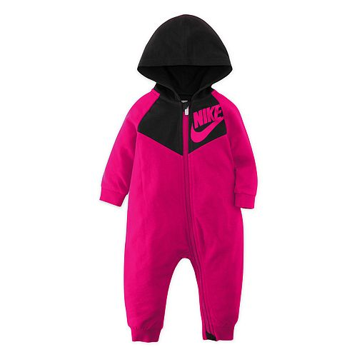 Nike Baby Girl French Terry Full-Zip Hooded Jumpsuit