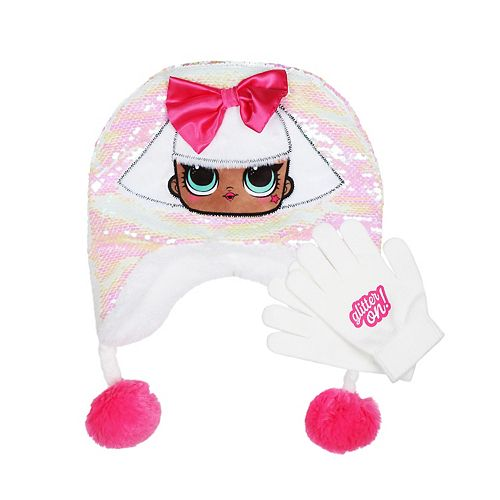 Girls 4-16 L.O.L. Surprise! Reversible Sequin Hat and Gloves Set