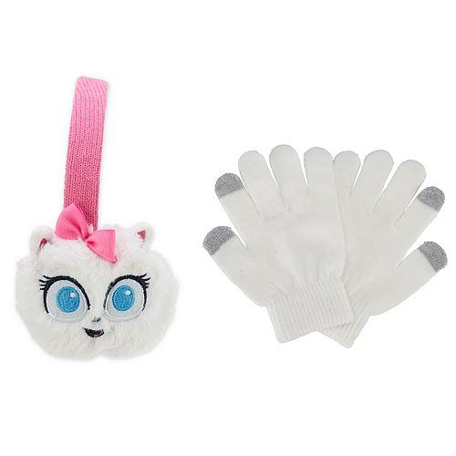 Girls 4-16 Secret Life of Pets Gidget Earmuff and Glove Set