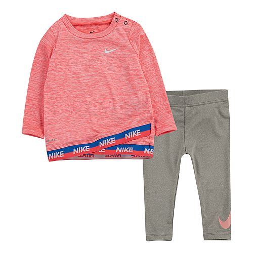 Baby Girl Nike Tulip-Hem Tunic & Leggings Set