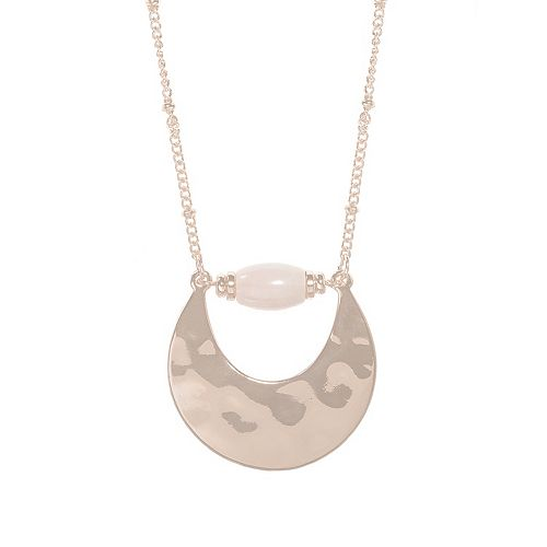 SONOMA Goods for Life™ Gold Tone Crecent & Bead Pendant Necklace