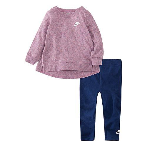 Baby Girl Nike 2-Piece Long Sleeve Tunic Top & Leggings Set