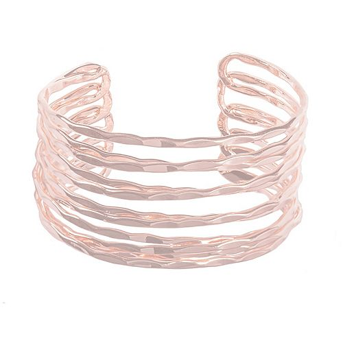 SONOMA Goods for Life™ Rose Gold Tone Criss Cross Cuff