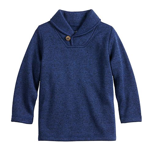 Baby Boy Jumping Beans® Button Shawl Collar Sweater-Fleece