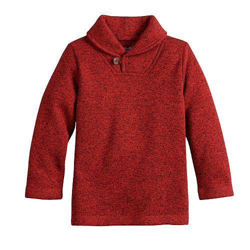 Baby Boy Jumping Beans® Button Shawl Collar Sweater-Fleece