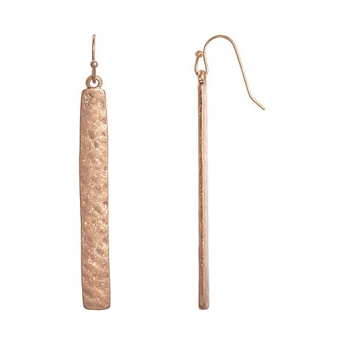 SONOMA Goods for Life™ Hammered Stick Nickel Free Drop Earrings