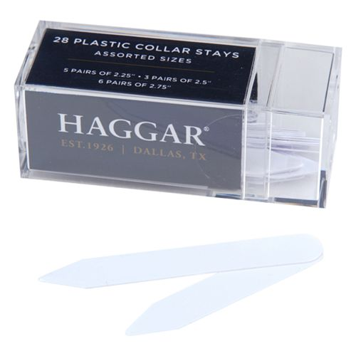 Men's Haggar® 28-Pack Bendable Plastic Collar Stays