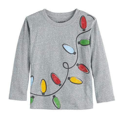 Toddler Boy Jumping Beans® Long-Sleeve Snow Heather Tee