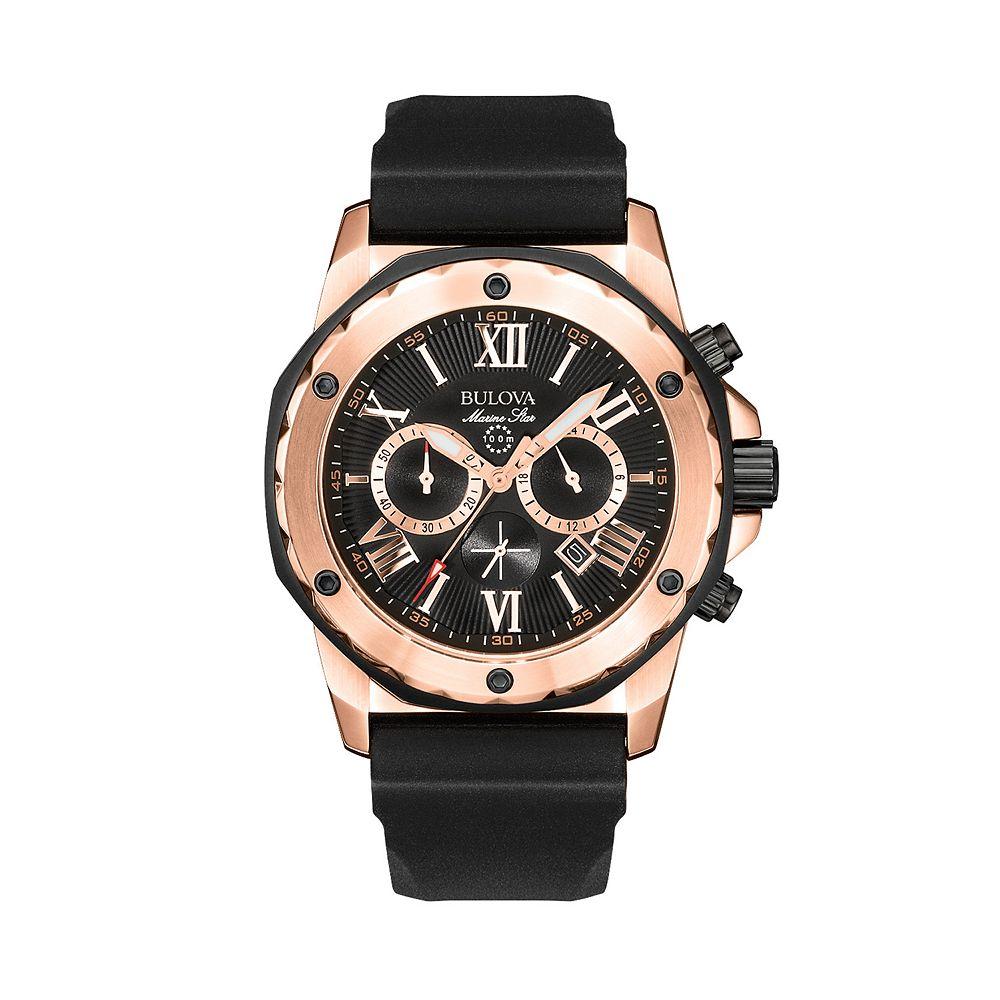 Bulova Men's Marine Star Stainless Steel Chronograph Watch - 98B104