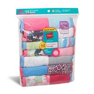 Girls 4-14 Hanes® 14-pack Cotton Briefs