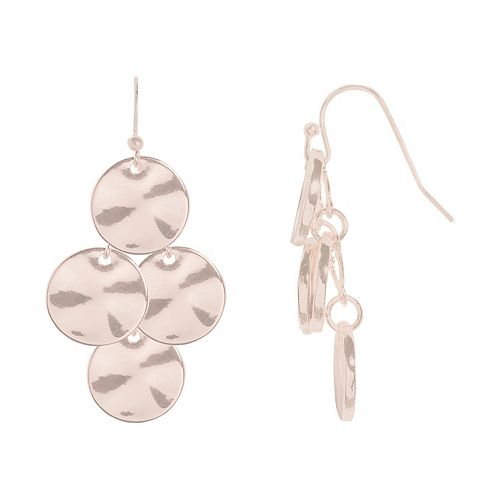 SONOMA Goods for Life™ Hammered Disc Kite Nickel Free Drop Earrings
