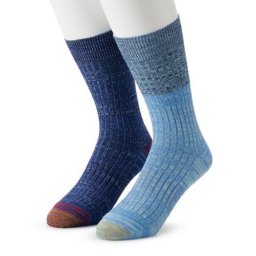 Men's GOLDTOE 2-pack Casual Crew Socks