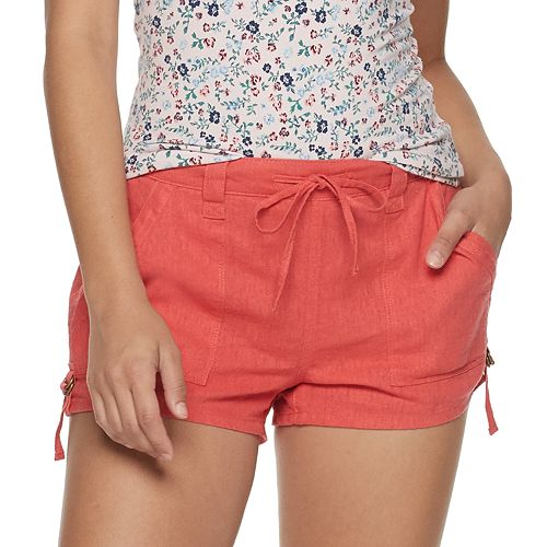 Juniors' SO® Utility Linen-Blend Shorts