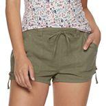 Juniors' SO® Utility Linen-Blend Shorts