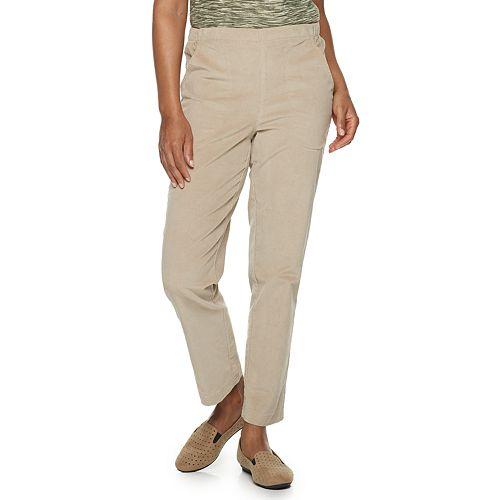 Petite Croft & Barrow® Pull-On Corduroy Pant