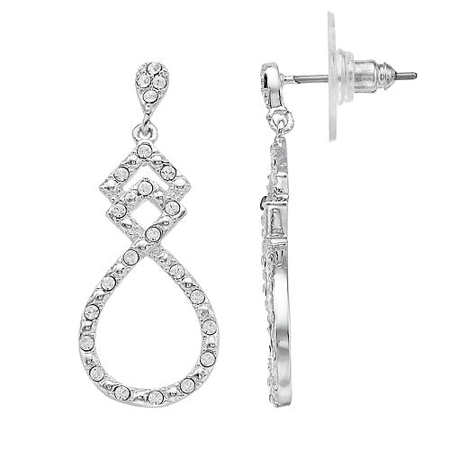 Brilliance Open Drop Earrings with Swarovski Crystals