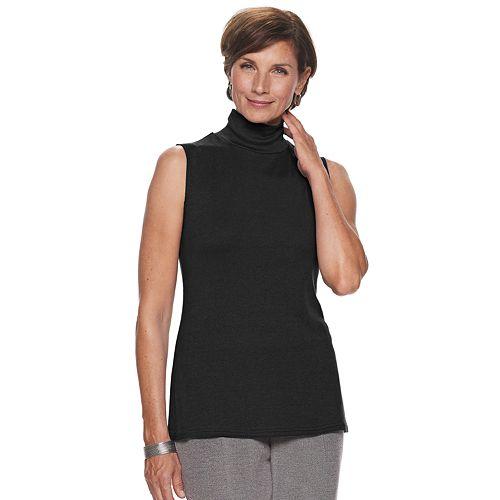 Women's Croft & Barrow® Sleeveless Mockneck Top