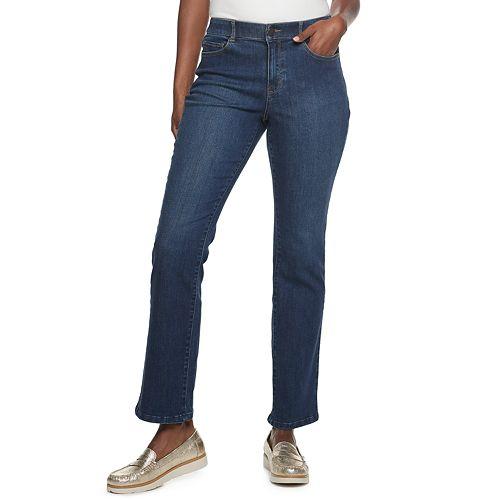 Women's Croft & Barrow® 5 Pocket Effortless Stretch Bootcut Pants