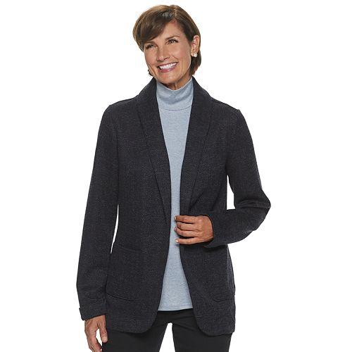 Women's Croft & Barrow® Knit Blazer
