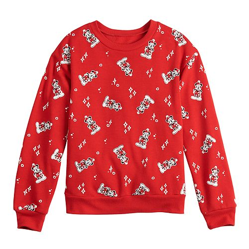 Girls 7-16 Disney's Mickey Long Sleeve Pullover