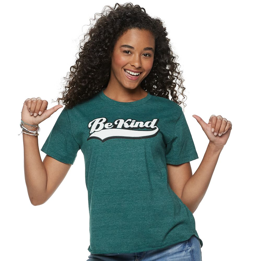 """Juniors' Modern Lux """"Be Kind"""" Graphic Tee"""