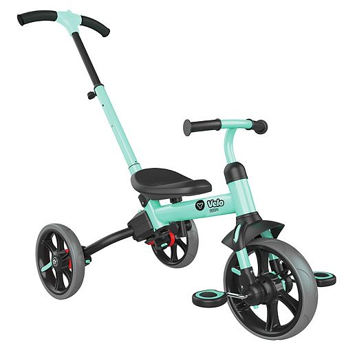 Yvolution Y Velo Flippa Green Teal 3-in-1 Push Trike to Balance Bike