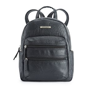 Stone & Company Washed Leather Double-Entry Mini Backpack